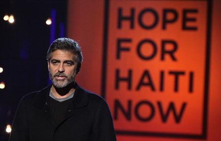 george clooney hope for haiti now