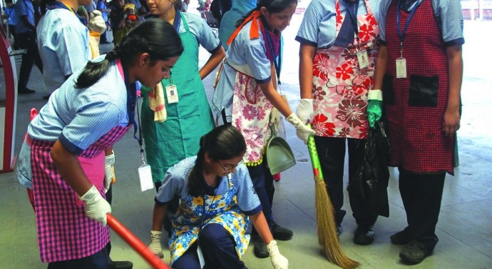 Cleanliness drive by students